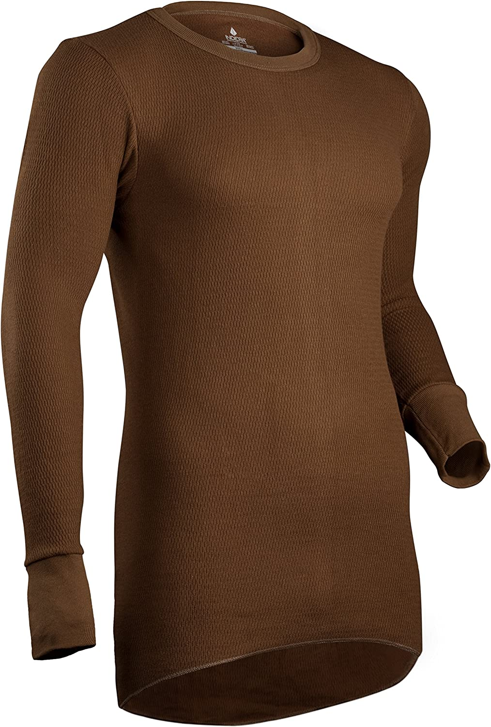 Indera Men's Icetex Cotton Outside/Fleeced Polyester with Silvadur Inside Top