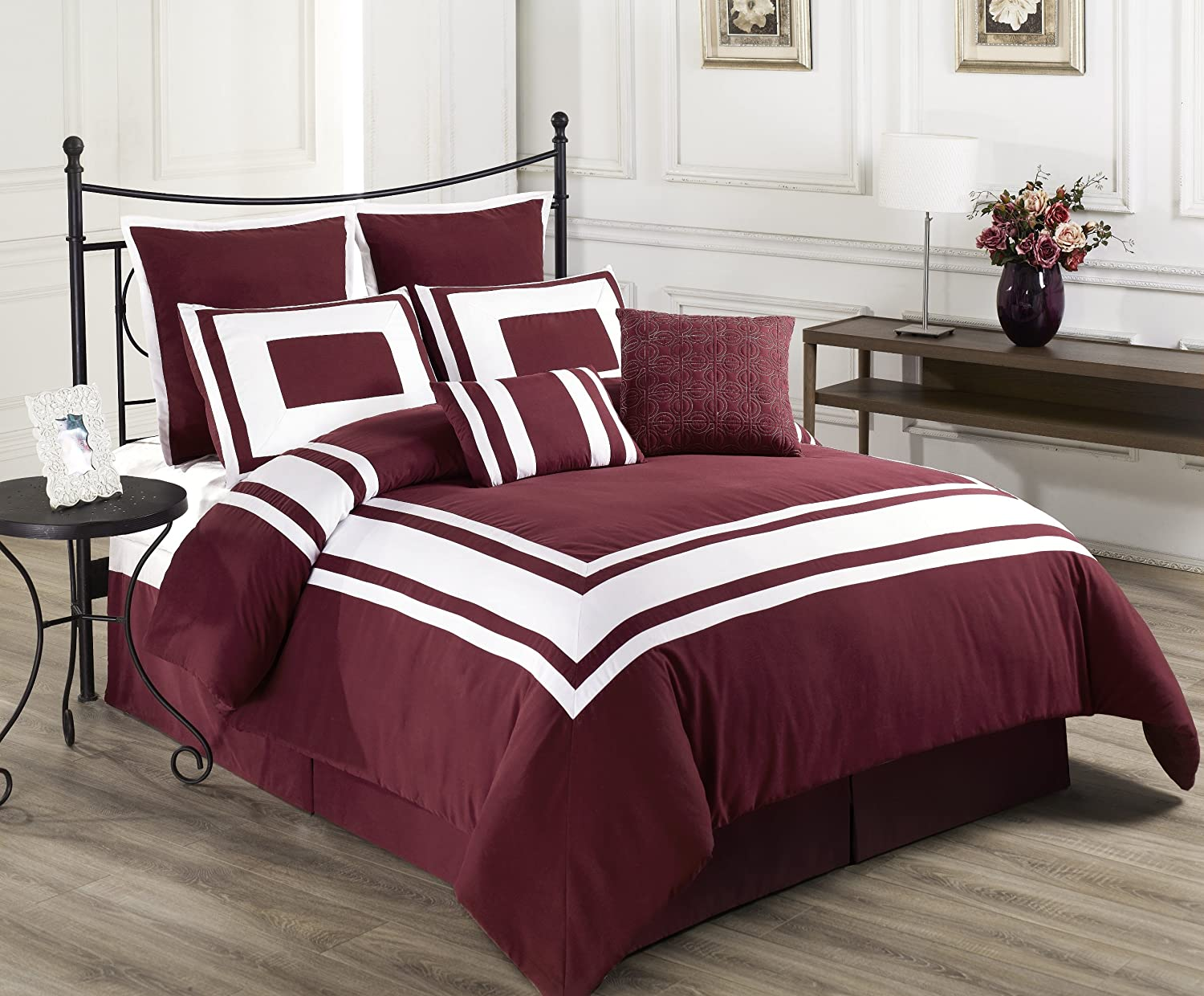 Burgundy Bedding That Is Classy And Elegant