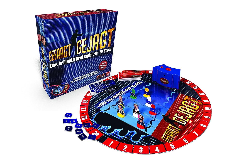 Goliath 76520 Gefragt Gejagt   Familien Brettspiel   spannendes Wissensspiel ab 8 Jahren   für 3-6 Spieler   Quiz-Spiel bekannt aus dem TV   Wissensduell für jung und alt