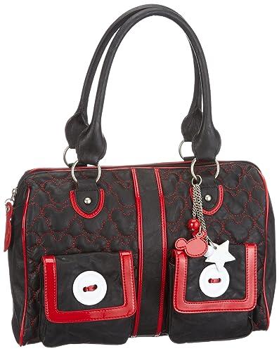 disney mickey button shoulder bag da1055 sac main femme noir v