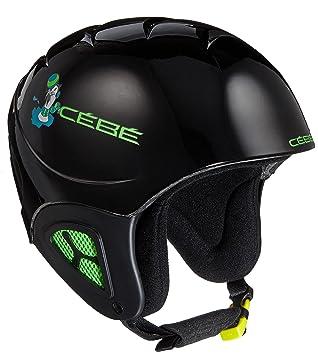Cébé CBH202 Cascos de Esquí, Unisex niños, Negro (Basics Black Seal),