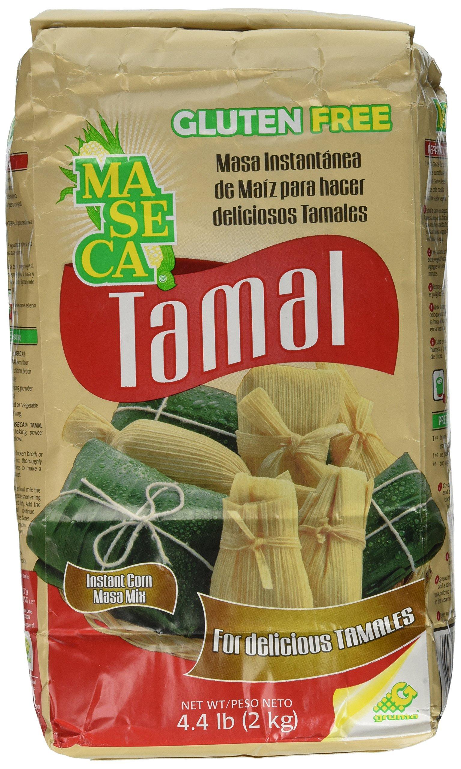 Maseca Instant Corn Masa Mix for Tamales 4.4lb   Masa Instantanea de Maiz para Tamales 2kg