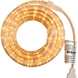 PERSIK Rope Light - for Indoor and Outdoor use, 18 Feet, 216 CLEAR Incandescent Lights