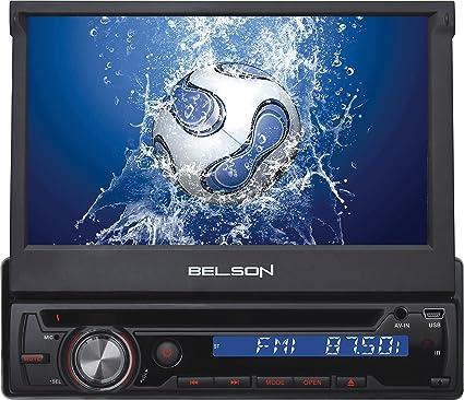 Belson BS-350 - Sistema multimedia 1-DIN in-dash con pantalla TFT