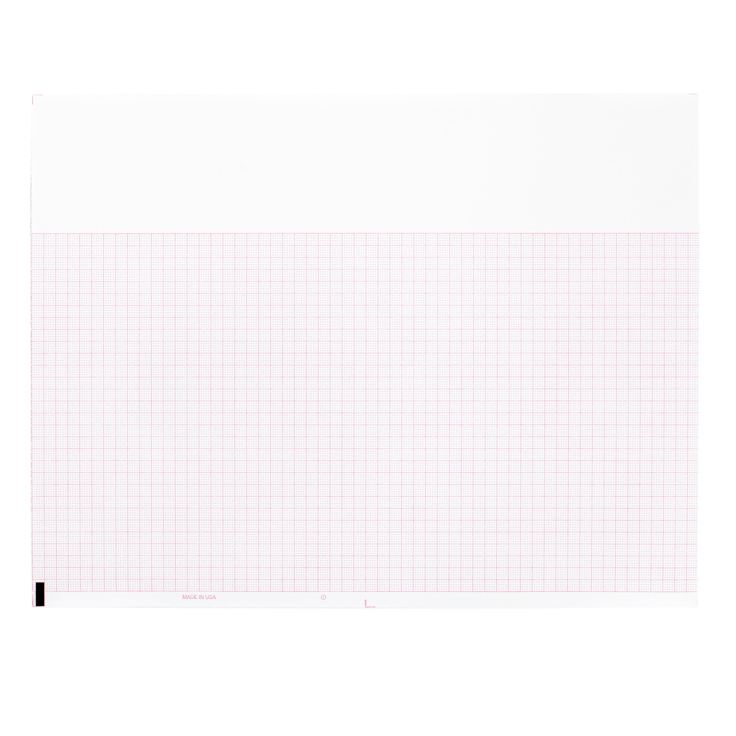 Burdick Compatible 007983 Medical Cardiology Recording Chart Paper Z-Fold, Size 8.5'' x 11'', Grid Color Red, Pad of 200