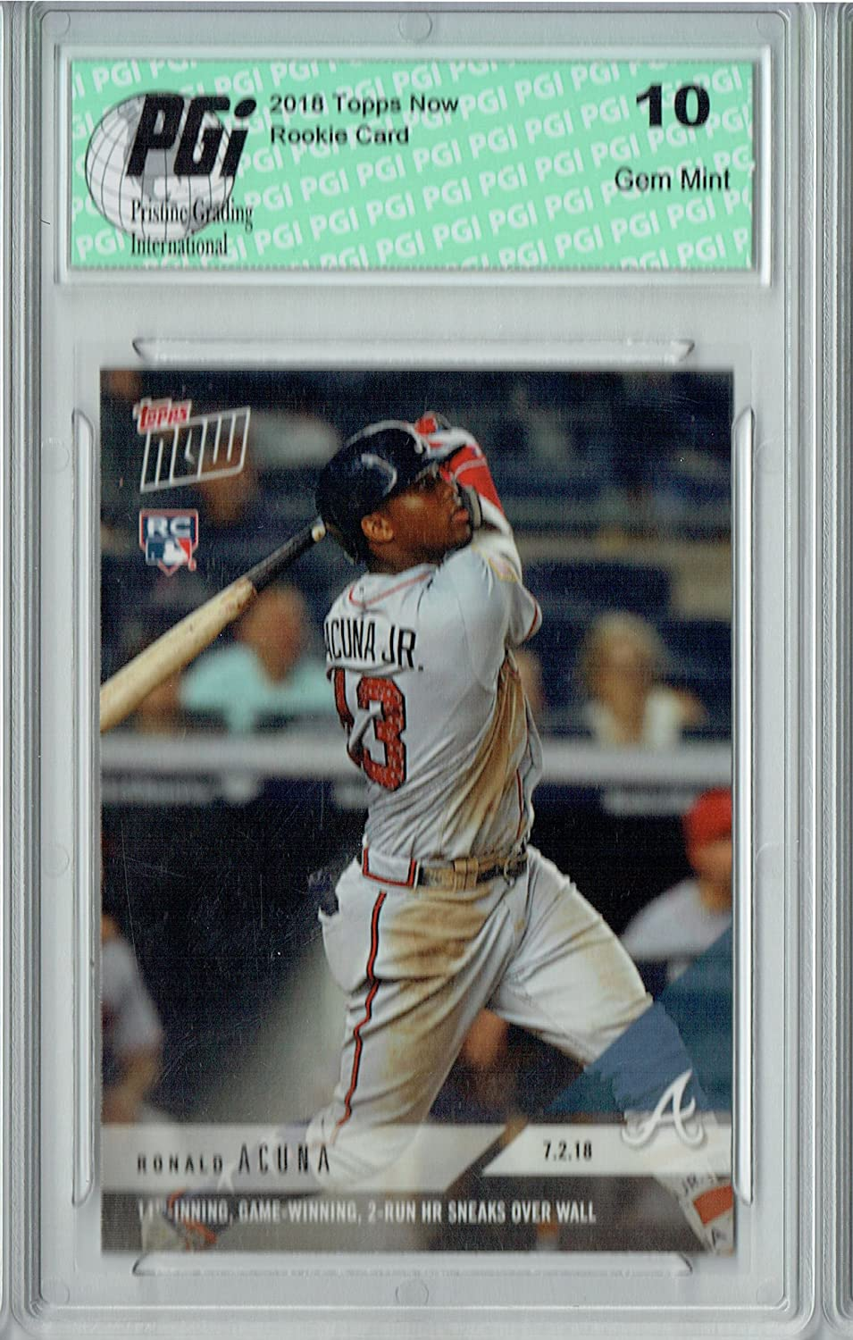 2018 Topps Archives Ronald Acuna Jr #212 Rookie Braves BCCG 10 Baseball Graded Card