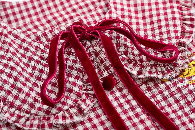 Women Girl Sweet Blouse Loose Shirt Tops Long Sleeve Spring Autumn Red Plaid
