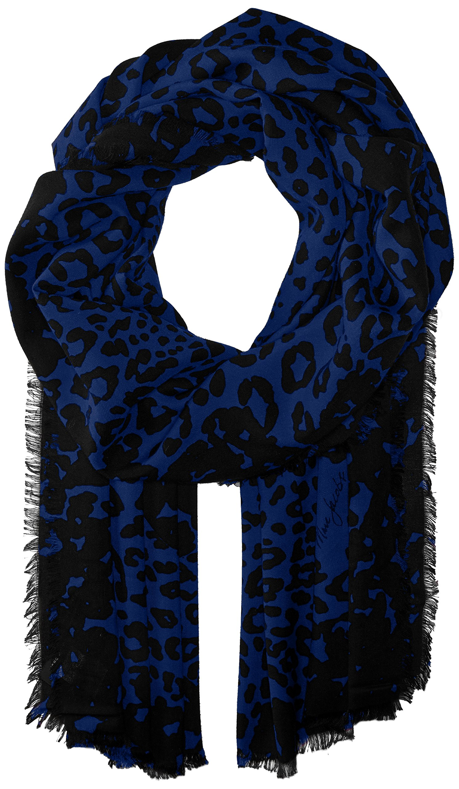 Marc Jacobs Women's Leopard Stole Scarf, black/blue, One Size by Marc Jacobs