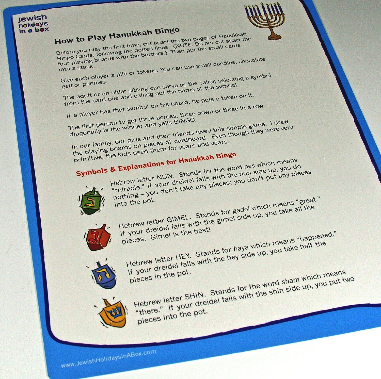 Amazoncom Hanukkah Bingo Game In A Bag Toys Games