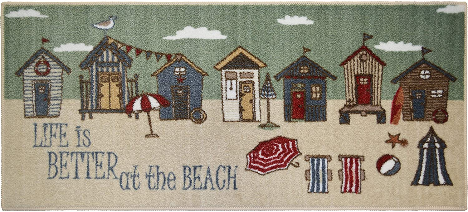 Amazon com: Seaside SEA5277 20X44 Better at the Beach Accent Rug 20