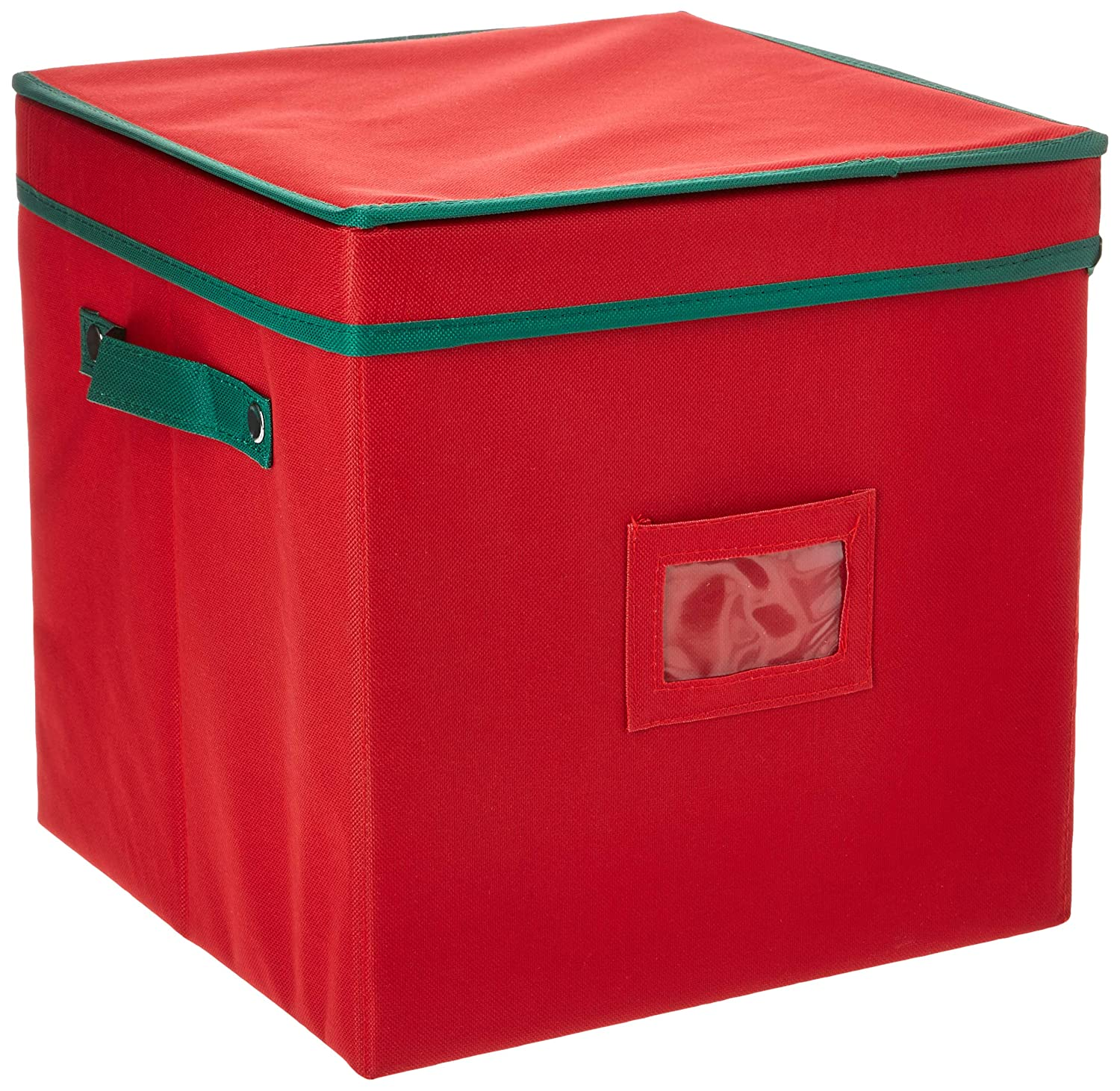 Elf Stor Ornament Storage Chest with Dividers - Holds 64 Balls, Red 1022 Ornament Chest Red