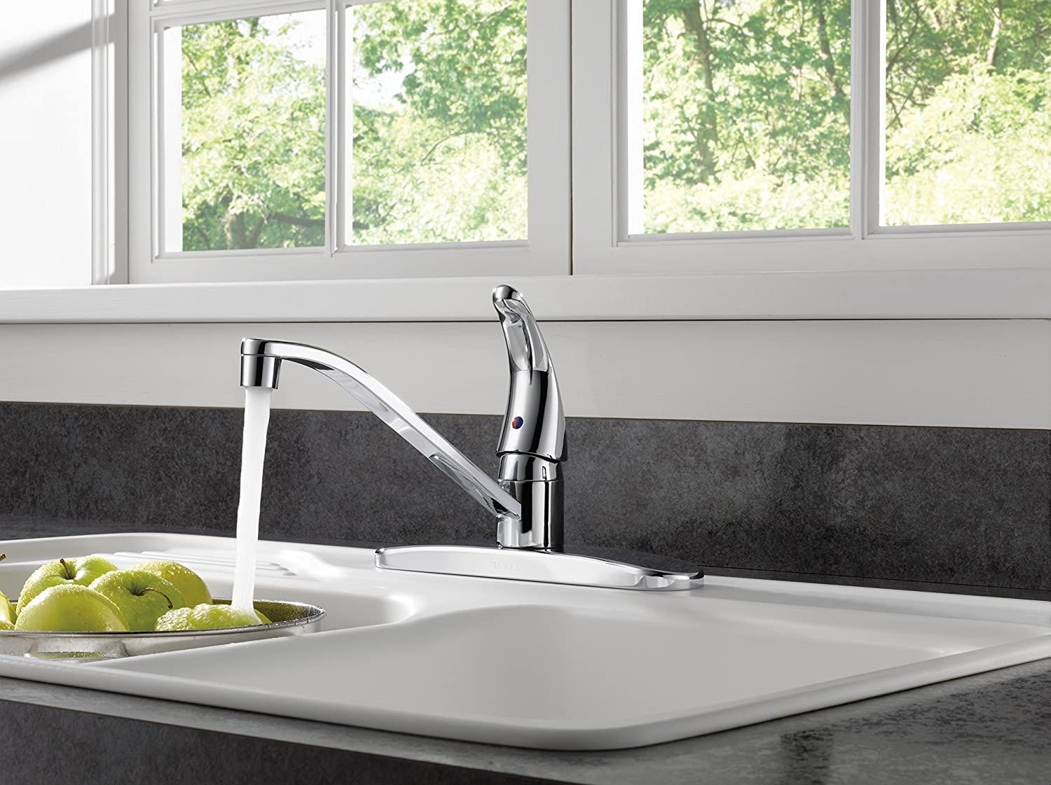 Peerless P110LF Classic Single Handle Kitchen Faucet, Chrome - Touch ...