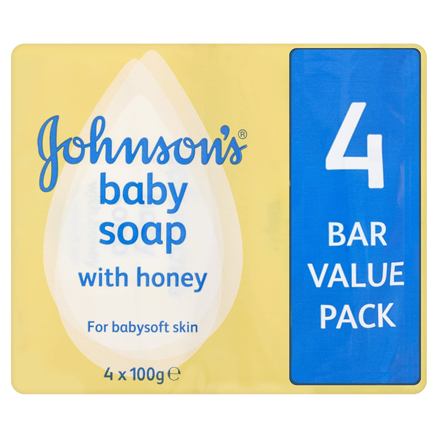 Johnsons baby soap Honey with baby lotion 4 pack Healthcenter 001375