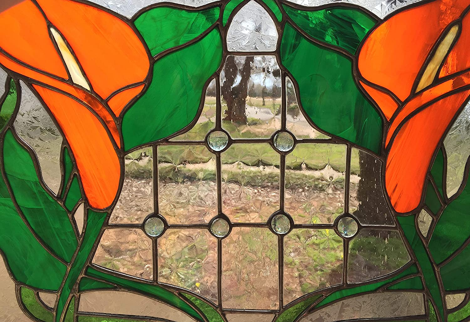 Stained glass Orange panel