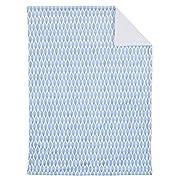 Dwell Studio Safari Skies Animal/Jungle Double Sided Super Soft Velboa/Sherpa Baby Blanket, Blue/Green/White
