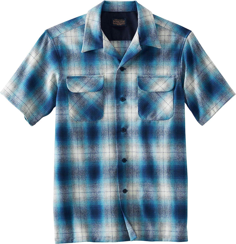 Men's Vintage Clothing | Retro Clothing for Men Pendleton Mens Short Sleeve Classic-fit Board Shirt  AT vintagedancer.com