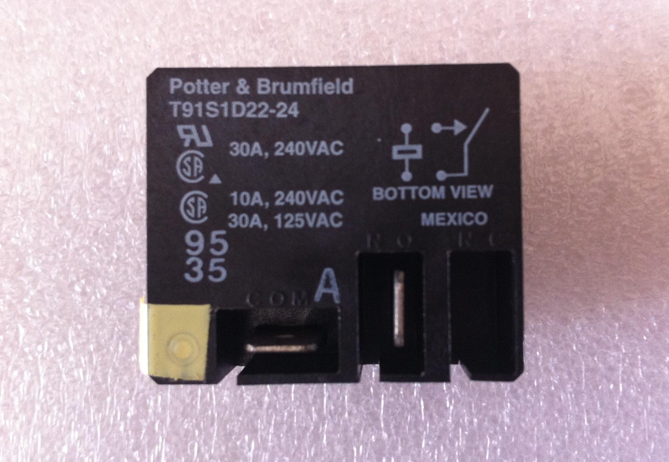 FLANGE 1 piece 24VDC 20A SPDT TE CONNECTIVITY // POTTER /& BRUMFIELD T9AP5D52-24 POWER RELAY