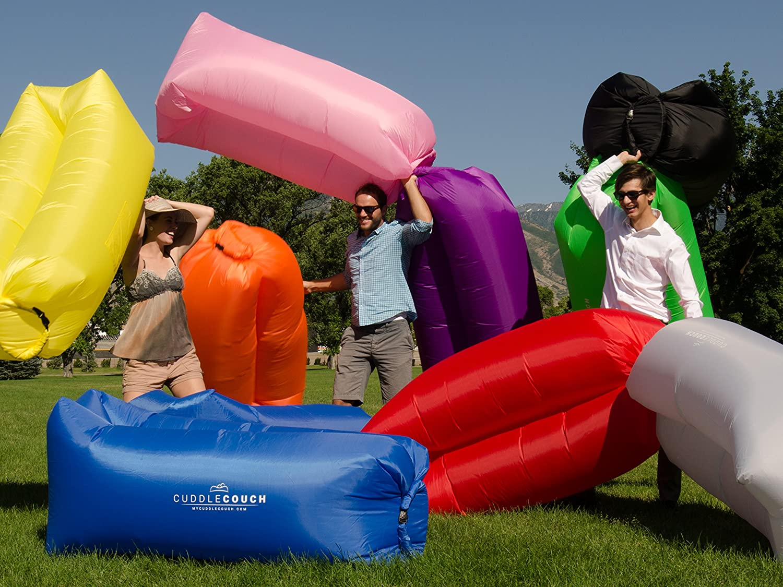 Amazon.com: Cuddle sofá tumbona de aire inflable colchón ...