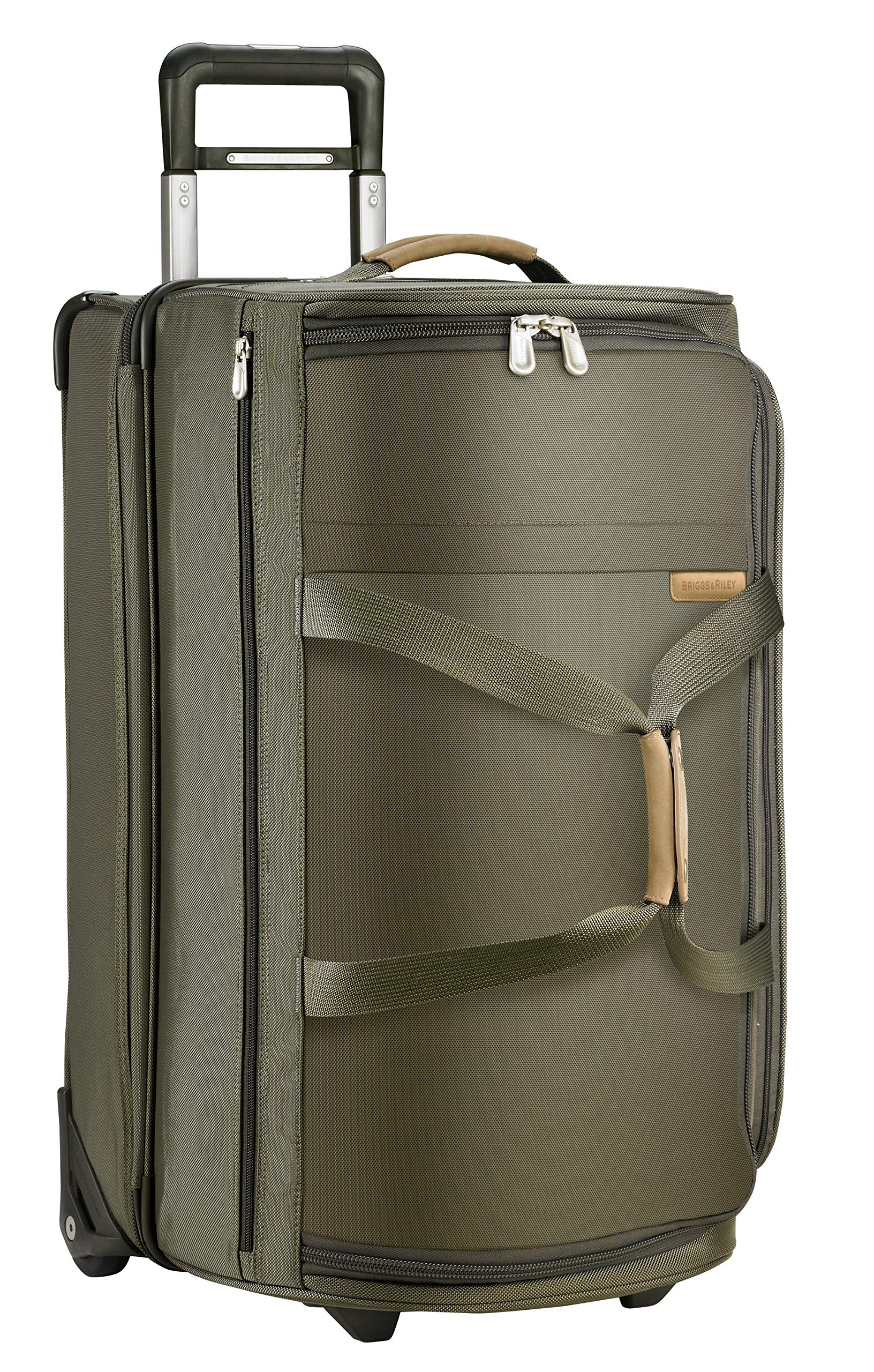 Briggs & Riley Baseline Upright Duffle Bag, Olive, Medium