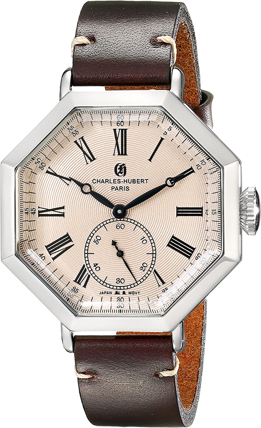 Charles-Hubert, Paris Men s 3962-RG Premium Collection Analog Display Japanese Quartz Brown Watch