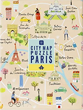 Talking Tables Puzle Rompecabezas Mapa Paris 250 Piezas Viajes ...