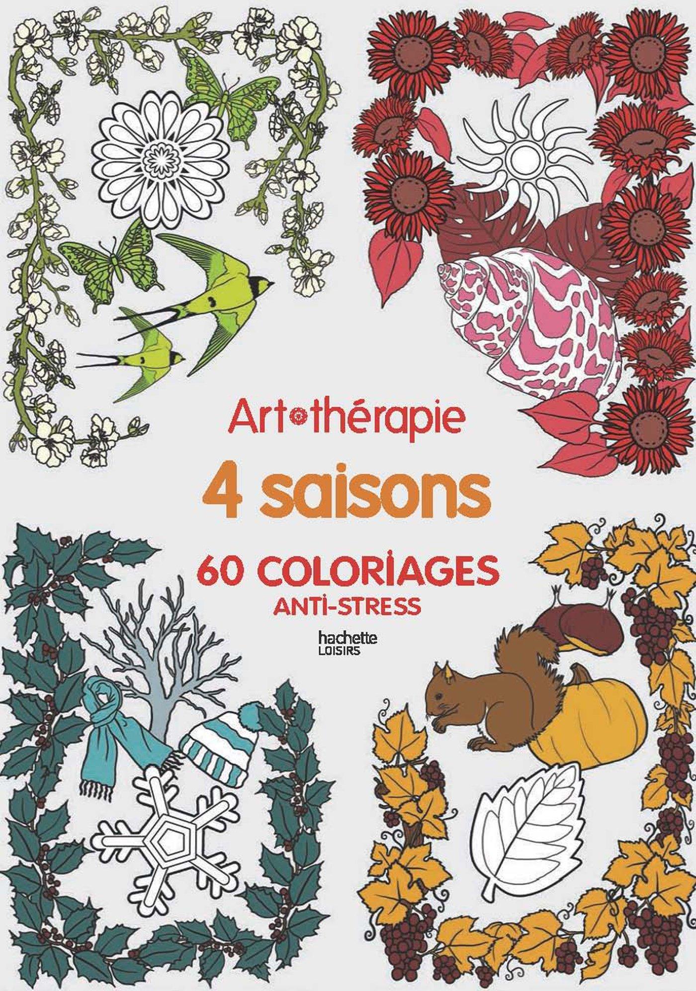 4 saisons 60 coloriages anti stress - Dessin 4 saisons ...