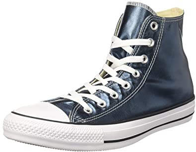 Converse CTAS Hi, Baskets Hautes Femme, Bleu (Blue Fir/White/Black), 37.5 EU