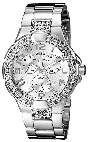 Guess G12557L - Reloj de Pulsera Mujer, Acero Inoxidable, Color Plata: Guess: Amazon.es: Relojes