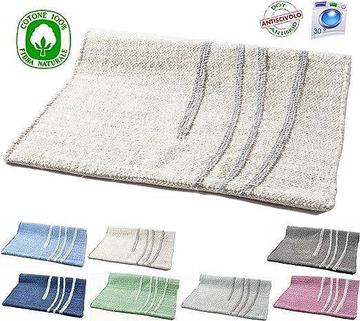 Alfombra de algodón lavable para baño o cocina, antideslizante, 50 ...