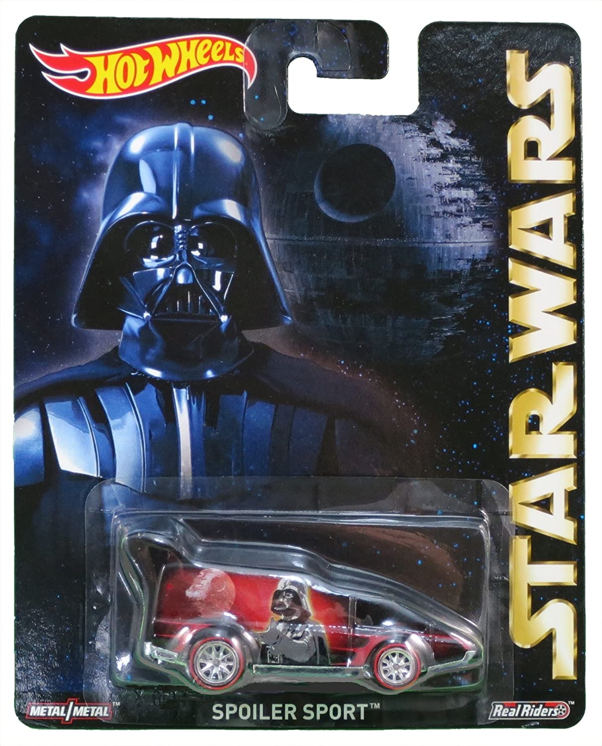 Hot Wheels Pop Culture 2015 Star Wars Darth Vader Spoiler Sport Diecast Car Mattel CFP39