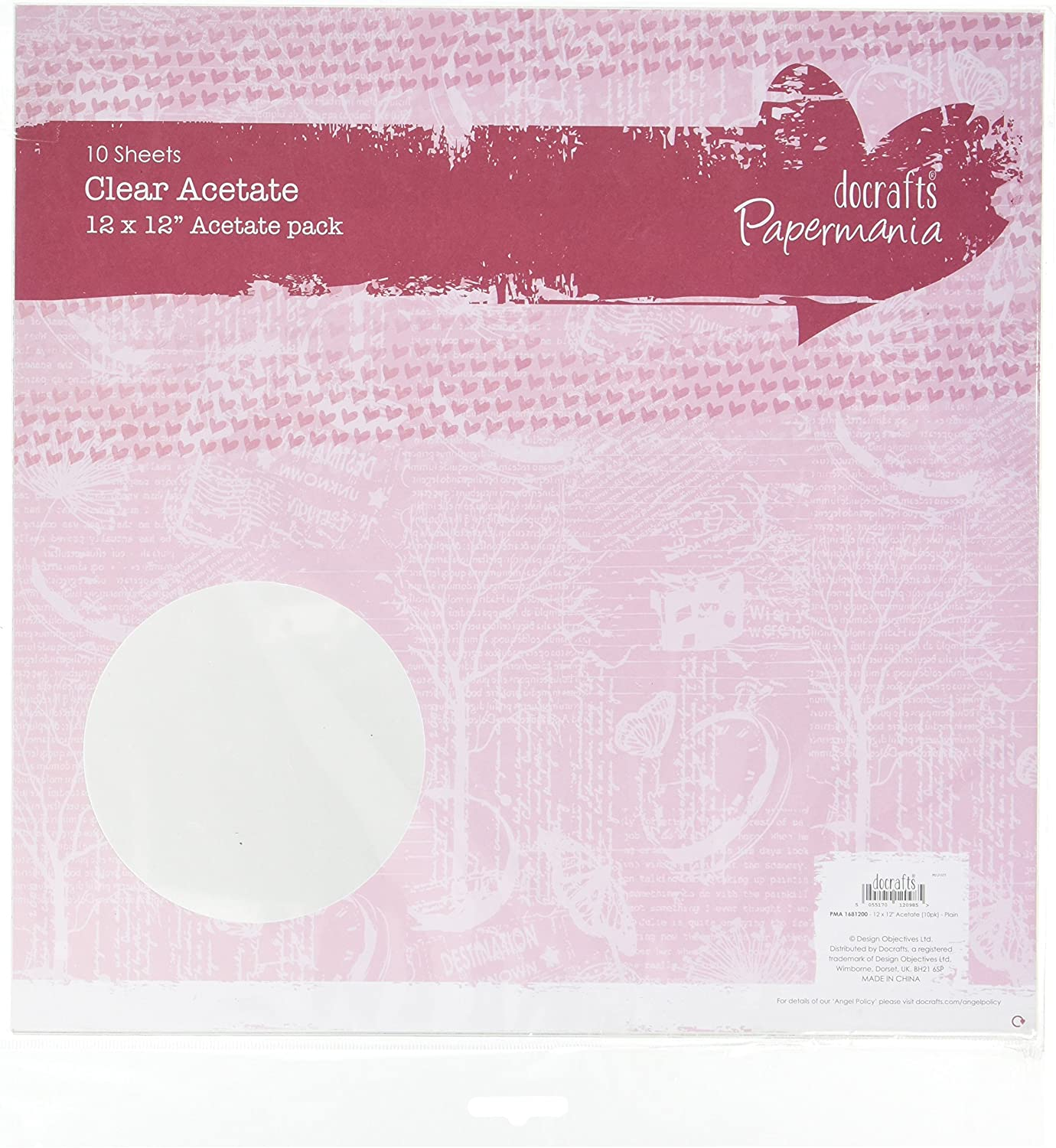 Papermania 12 X 12 Inch Plain Acetate Sheet Pack Of 10 Amazon Ca Home Kitchen