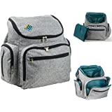 Baby Diaper Bag Backpack by Backpack Equip- With Stroller Straps & Changing Pad