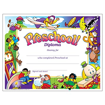 Amazon.com : Trend Enterprises Preschool Diploma, 30 per Package ...