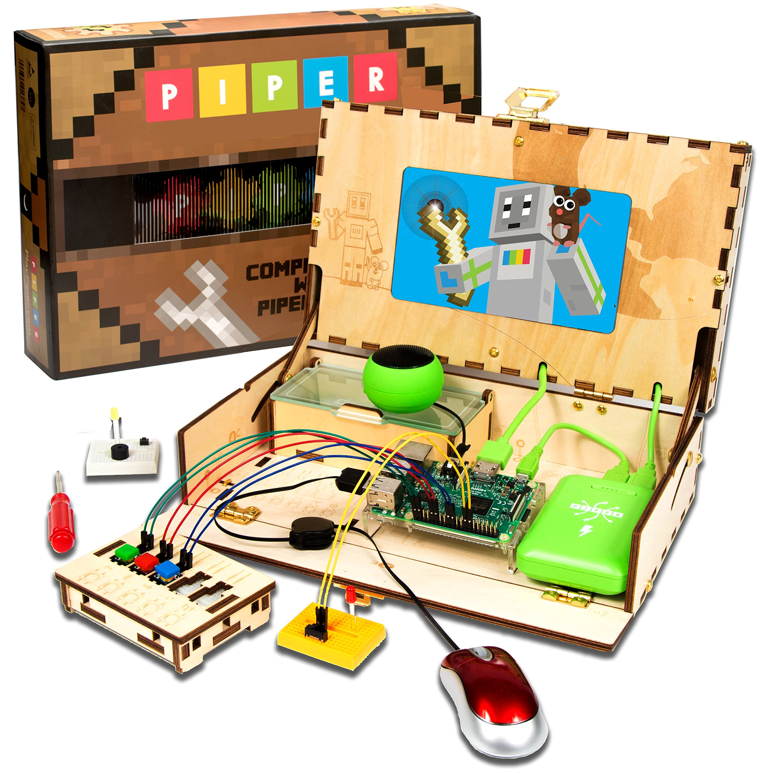 Piper Computer Kit | with Minecraft Raspberry Pi edition | Educational Computer that Teaches STEM and Coding | Tech Toy of the Year 2017