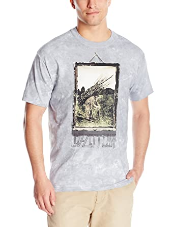 0b7ce69d Amazon.com: Liquid Blue Men's Led Zeppelin Man With Sticks Short Sleeve T- Shirt: Clothing