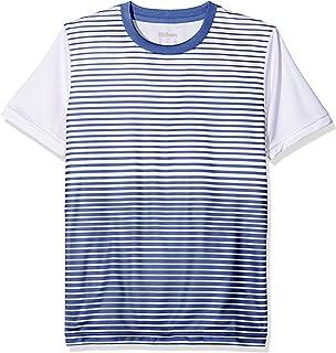 Wilson Boys' B Team Striped Crew Short Sleeve Tennis T-Shirt