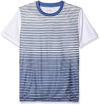 Wilson Kinder Team Striped Crew Kurzärmeliges T-Shirt  Amazon.de ... bd39ec0475