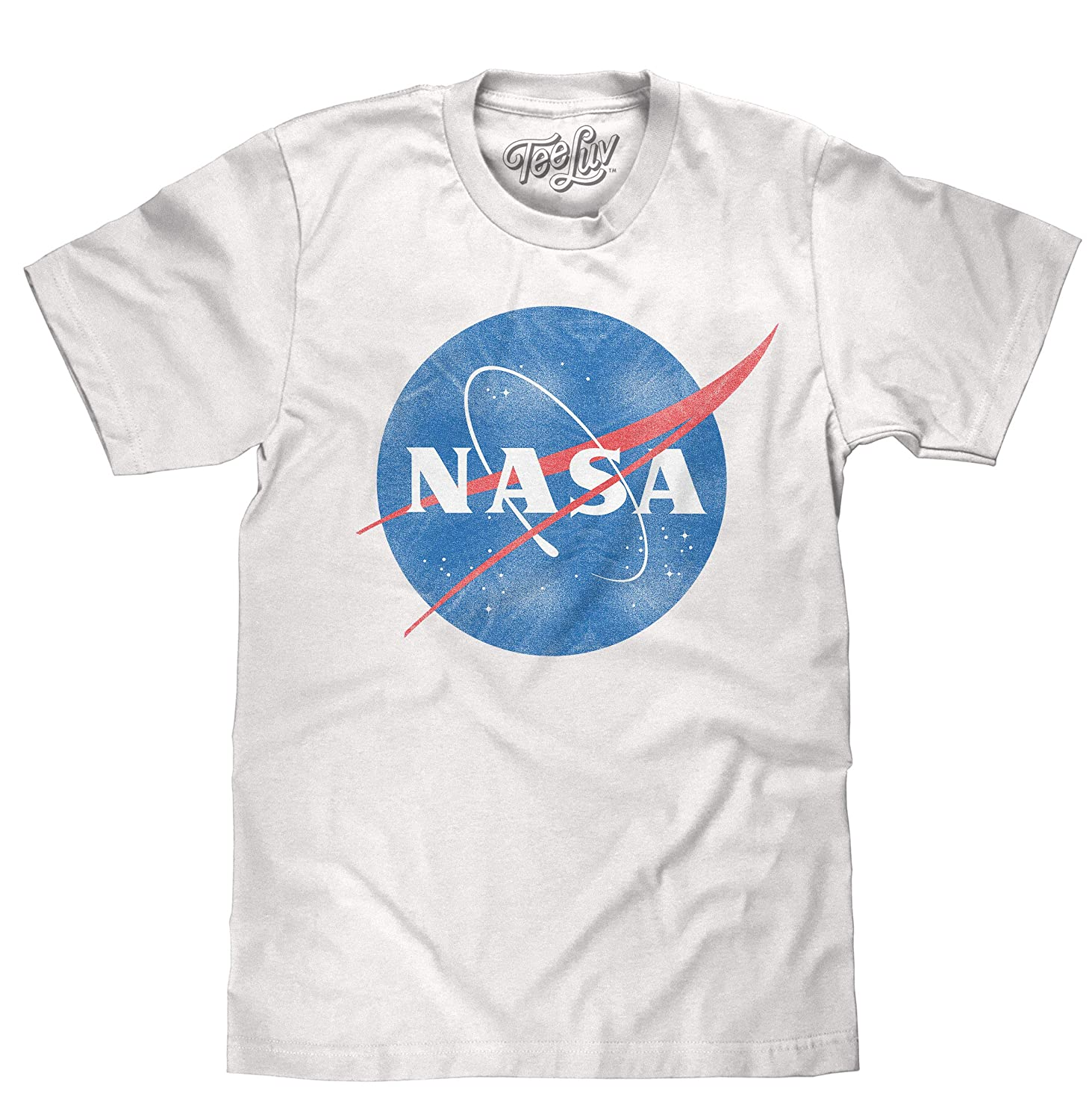 NASA DISTRESSED LOGO Licensed Adult T-Shirt All Sizes