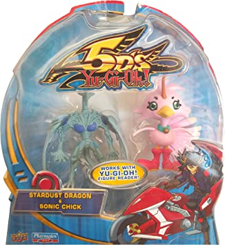YuGiOh 5d compañeros de juego de 2,5 pulgadas Mini Figure 2-Pack Stardust dragón y Sonic Chick: Amazon.es: Juguetes y juegos