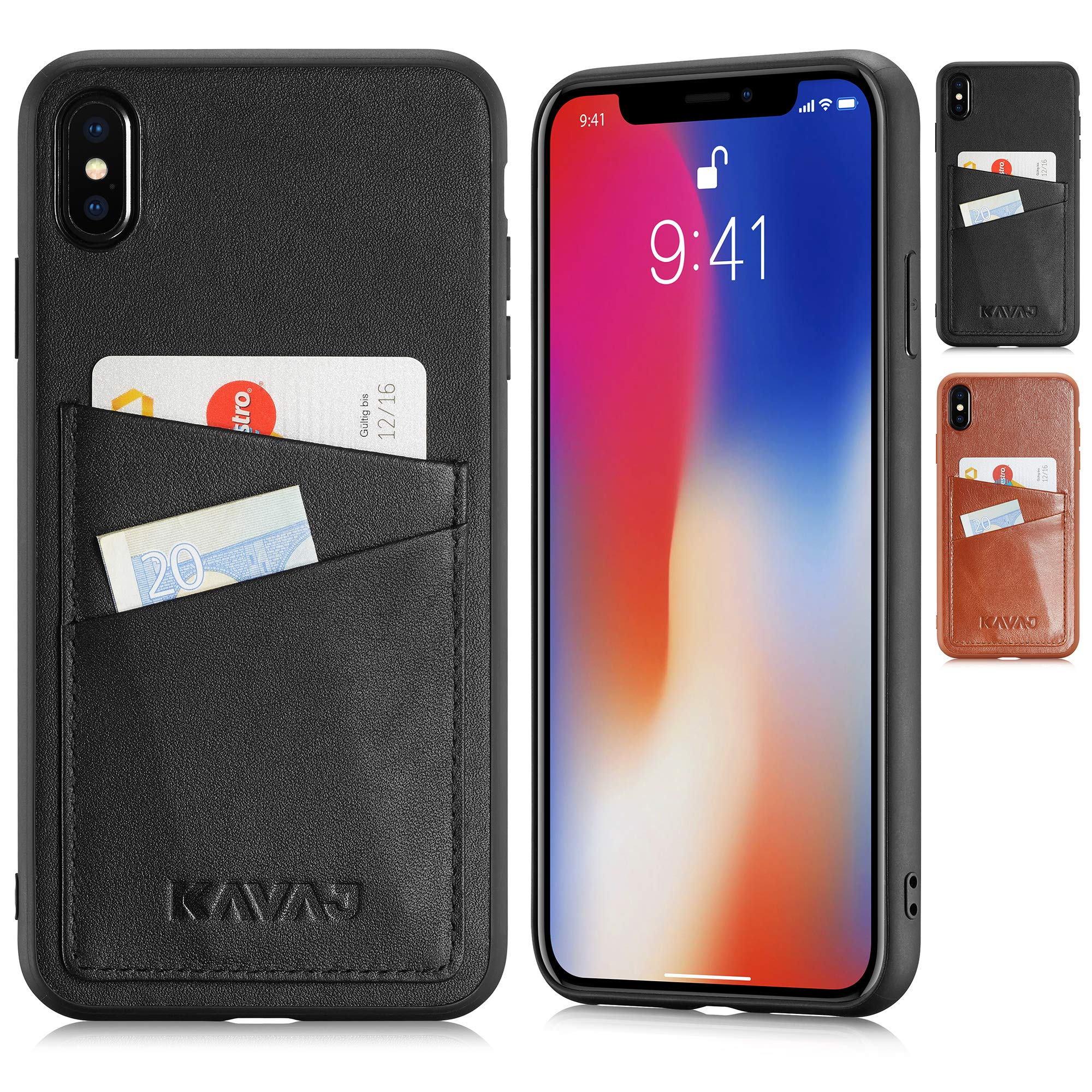 new arrival 3f94e 8e84b KAVAJ iPhone Xs Max 6.5″ Case Leather Tokyo Black or Cognac-Brown
