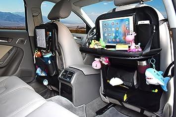Amazon.com: Car Back Seat Organizer with Tray Table, AUKUN Backseat ...