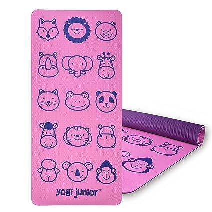 Yogi Junior Kids Yoga Mat - Libre de PVC, Doble Capa TPE ...