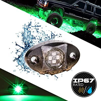 LAMPHUS Stardust SDRL14 4WD 4x4 Offroad LED Rock Crawling Lights for Jeeps & Truck - Green: Automotive