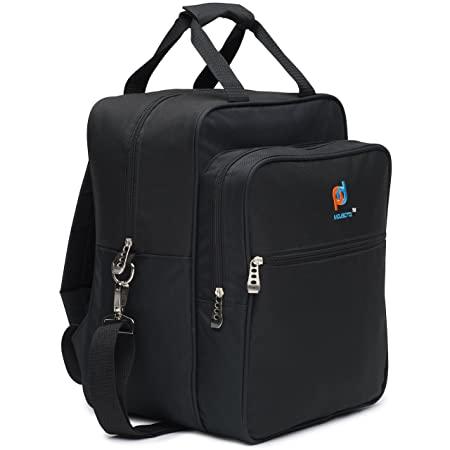 Large Lunch Cooler Bag For Office. Carry Your Food, Paperwork, Laptop And Office files. Multiple Zippered Pockets, Adjustable Straps, Metal Clips, Convert to Backpack for Hand-Free Carrying