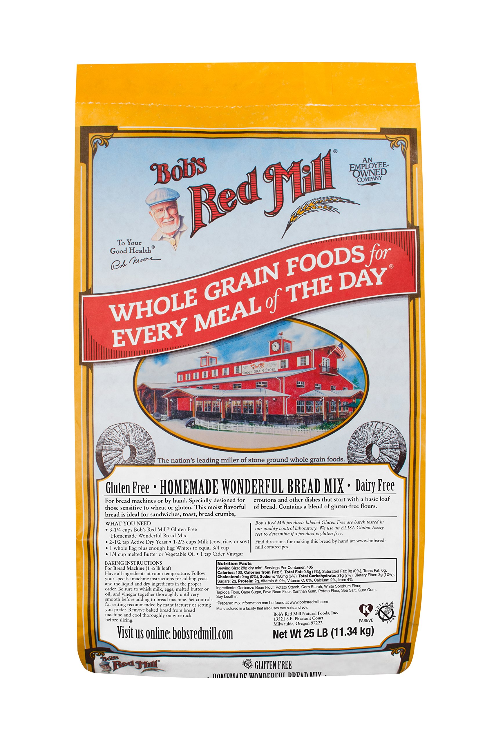Bob's Red Mill Bulk Mix Bread, Homemade, Gluten Free, 1602B25, 25-Pound (Pack of 1)