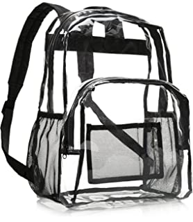 Tough Traveler Made in USA Clear Vinyl Backpack