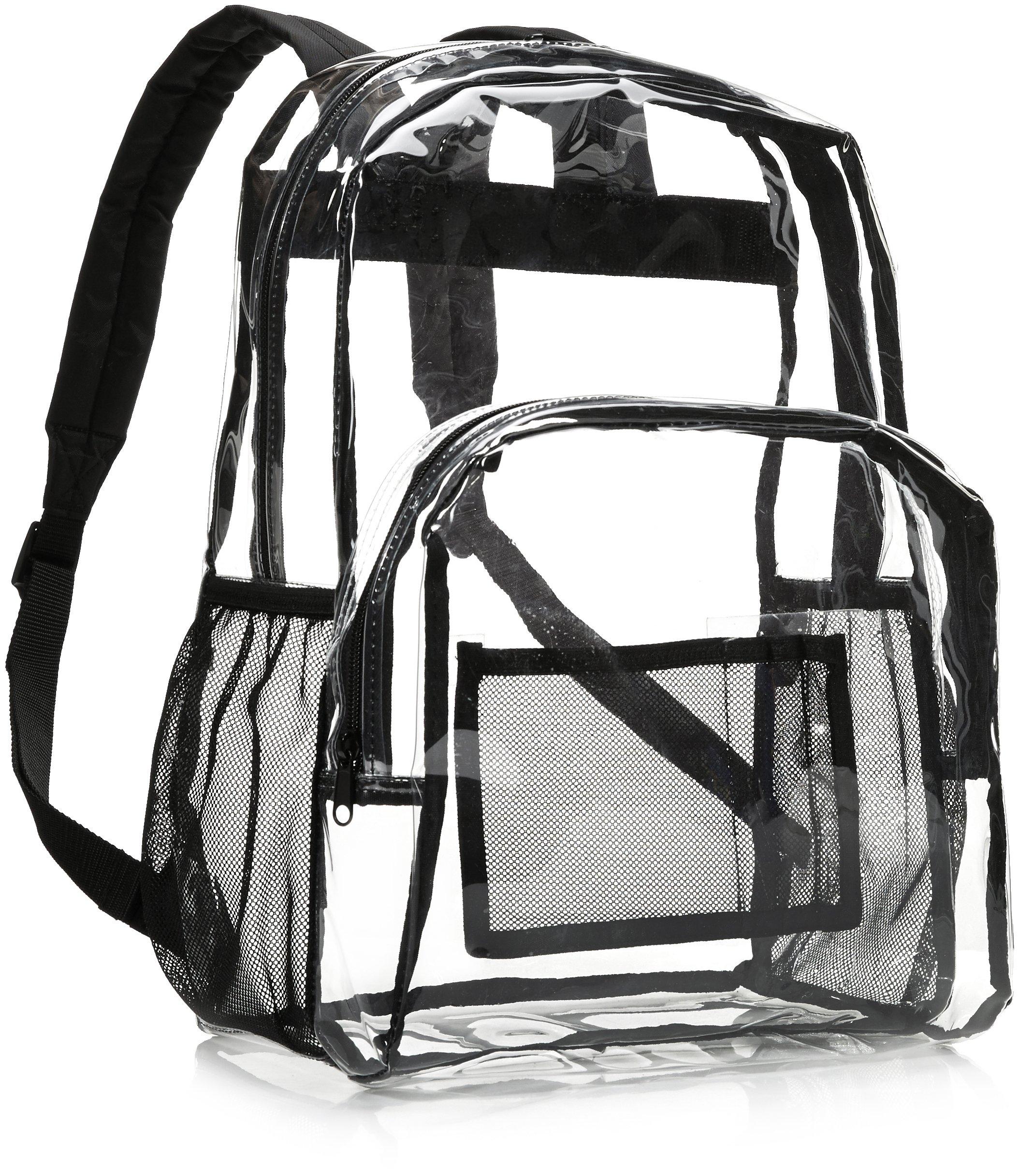 AmazonBasics School Backpack - Clear by AmazonBasics