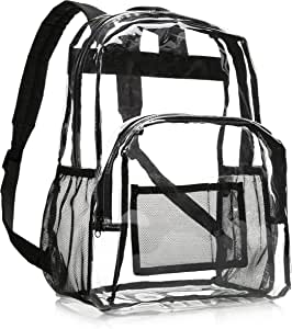 AmazonBasics School Backpack, Clear