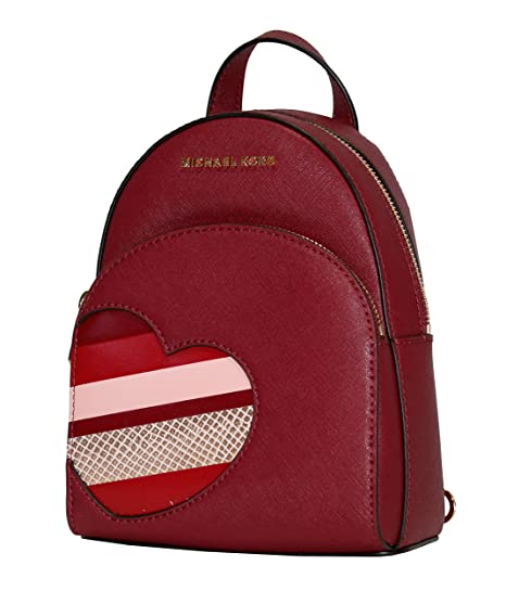 a8ed4153ab25 sale michael michael kors hearts abbey xsmall mini backpack daypack cherry  928b3 9eba9