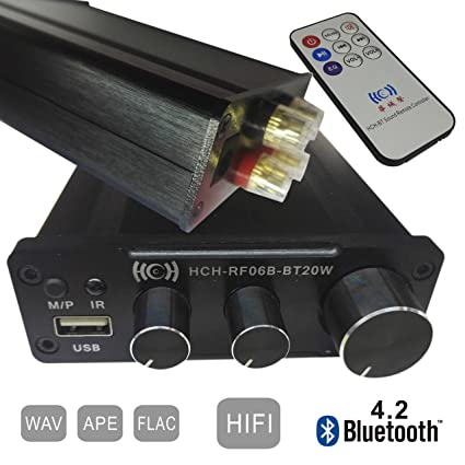V4.2 Bluetooth Amplificador USB Reproducción (APE, FLAC, WAV) Formato,